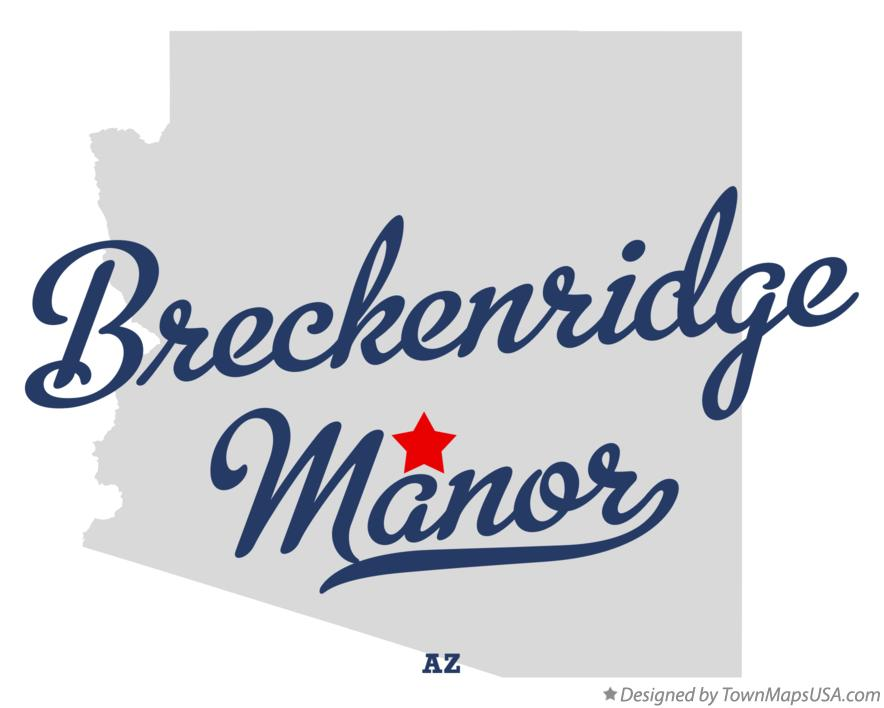 Map of Breckenridge Manor Arizona AZ