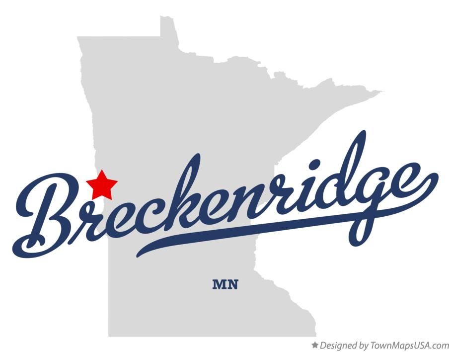 Map of Breckenridge Minnesota MN