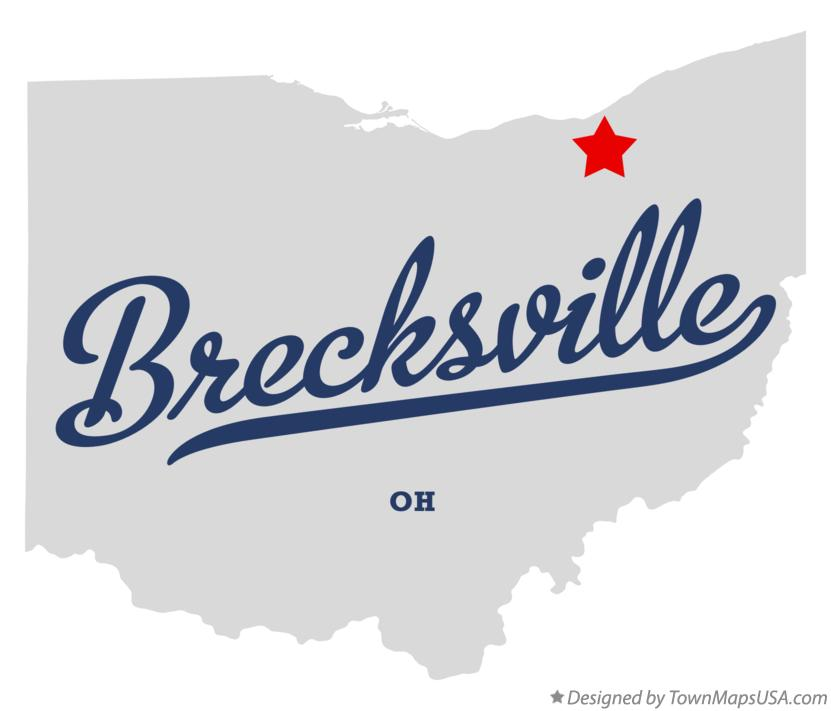Map of Brecksville Ohio OH