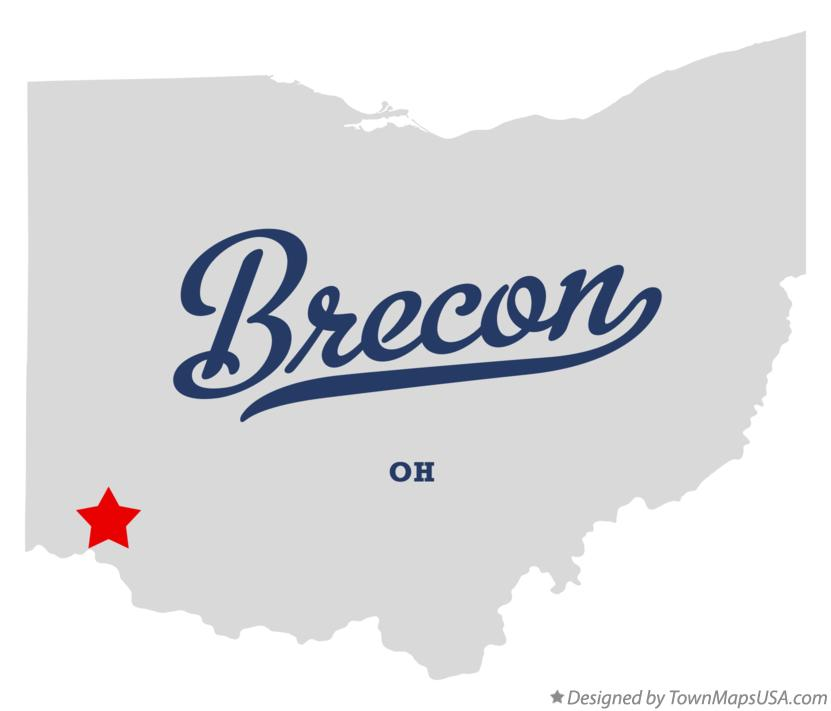 Map of Brecon Ohio OH