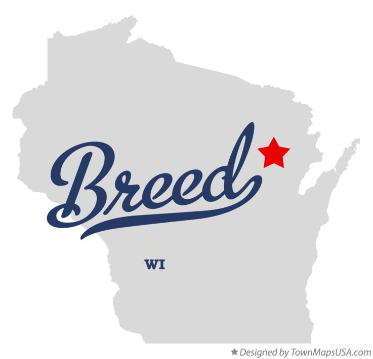 Map of Breed Wisconsin WI