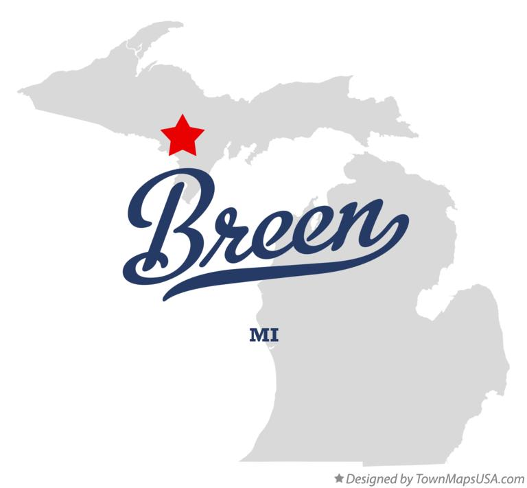 Map of Breen Michigan MI