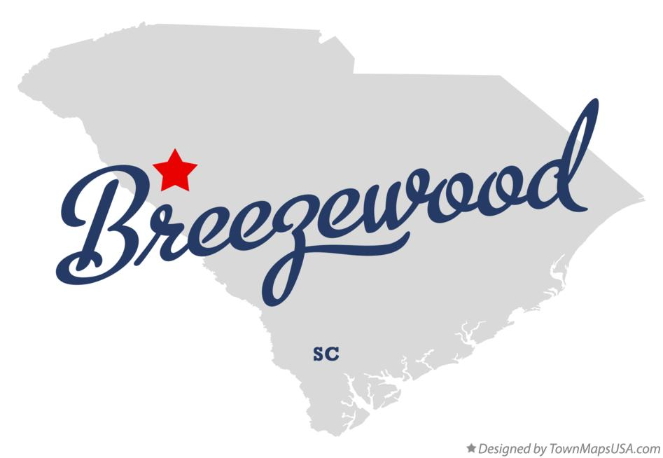 Map of Breezewood South Carolina SC