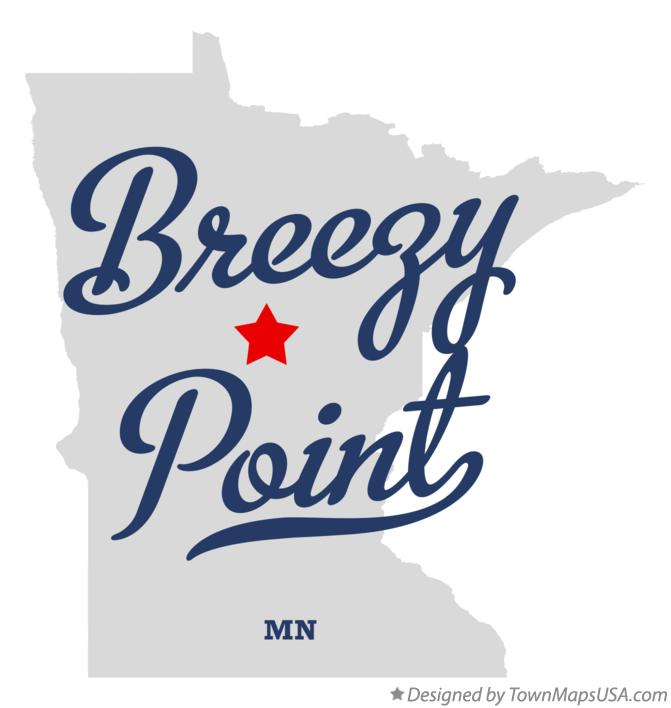 Map of Breezy Point Minnesota MN