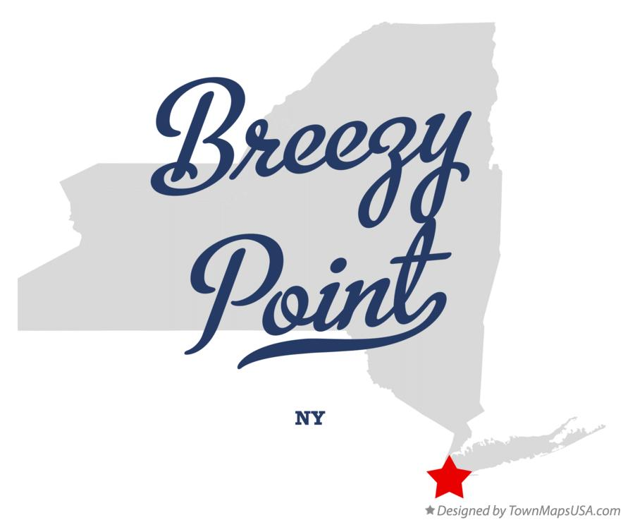 Map of Breezy Point New York NY