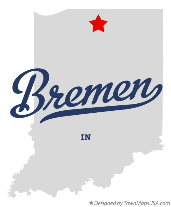 Map of Bremen Indiana IN