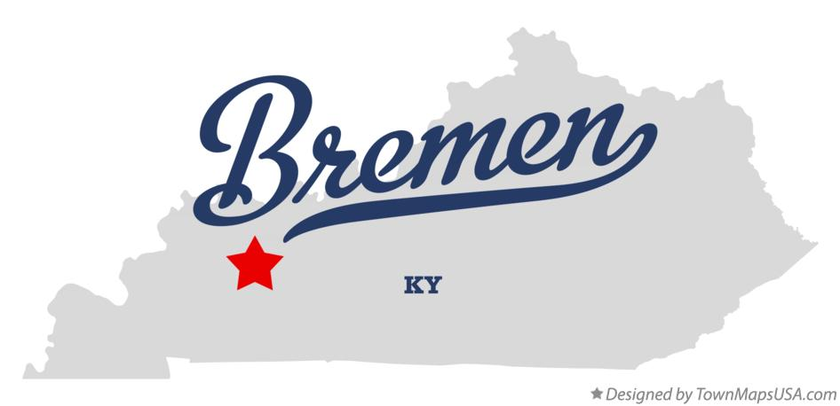 Map of Bremen Kentucky KY