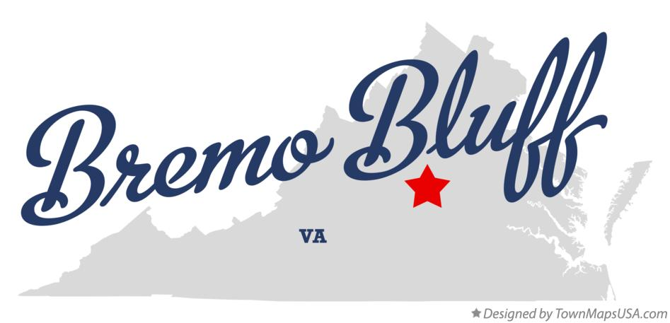 Map of Bremo Bluff Virginia VA