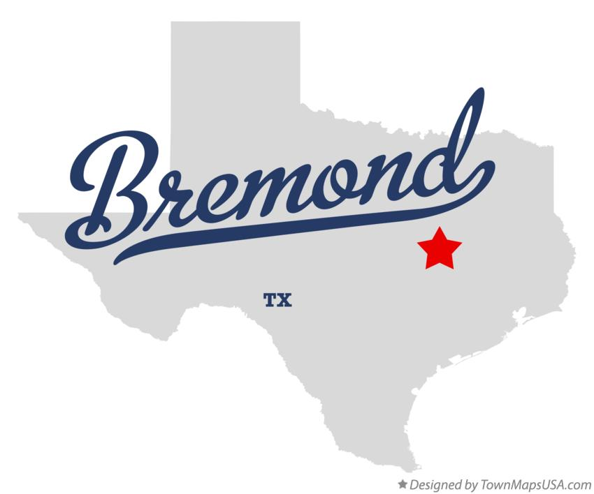 Map of Bremond Texas TX