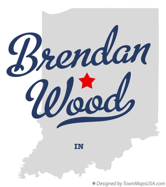 Map of Brendan Wood Indiana IN