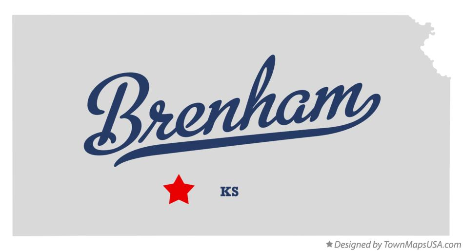 Map of Brenham Kansas KS