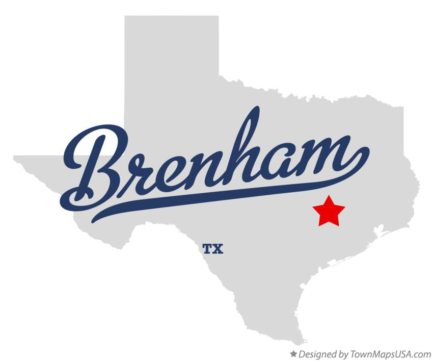 Map of Brenham Texas TX