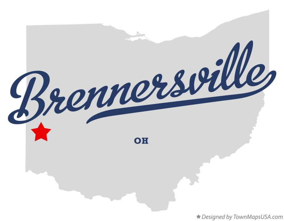 Map of Brennersville Ohio OH