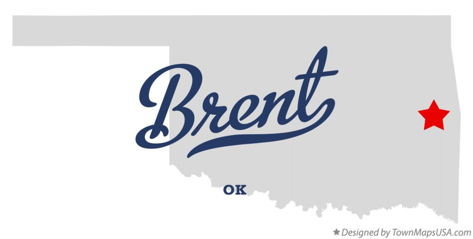 Map of Brent Oklahoma OK