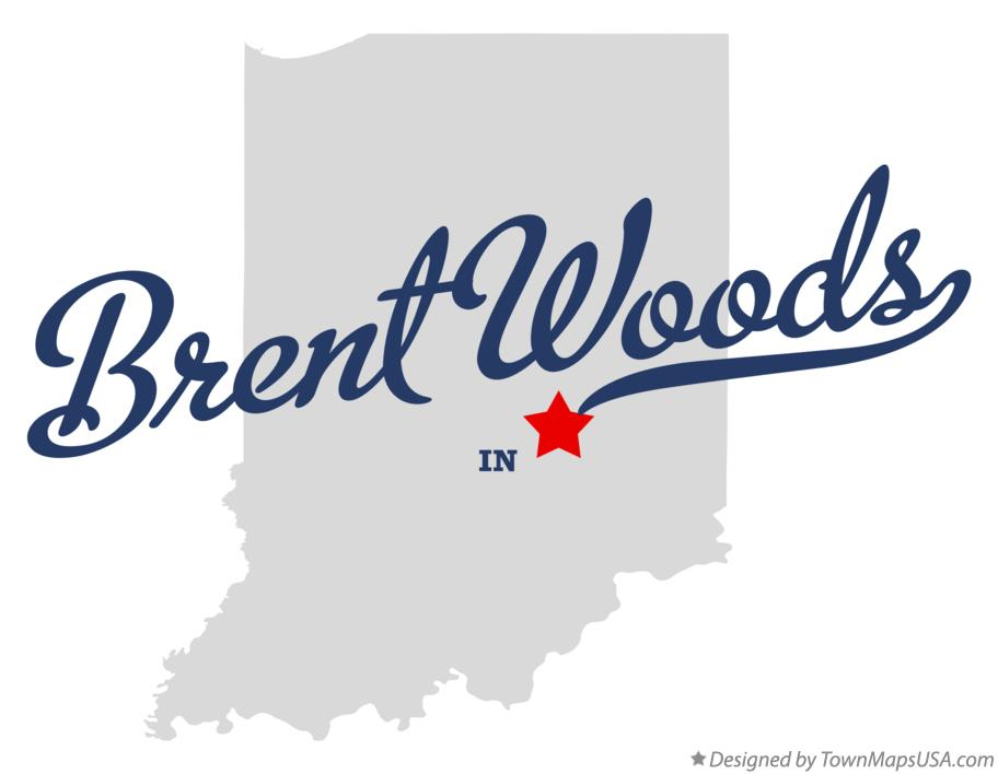 Map of Brent Woods Indiana IN