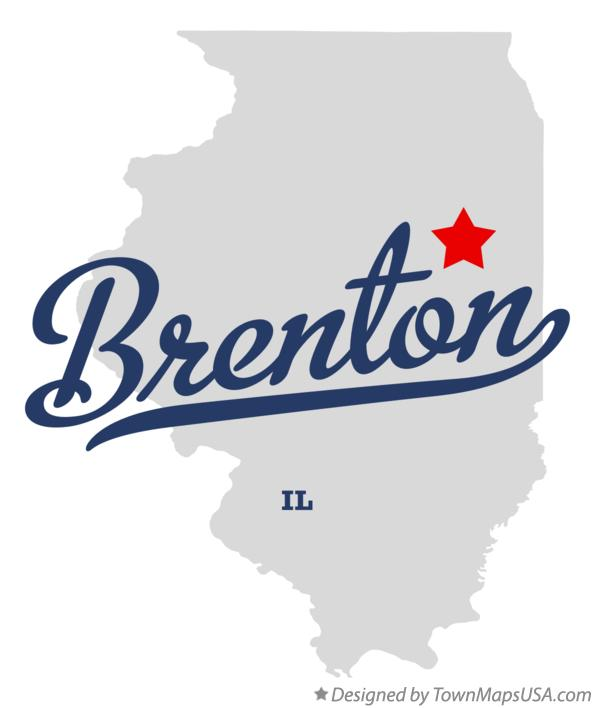 Map of Brenton Illinois IL