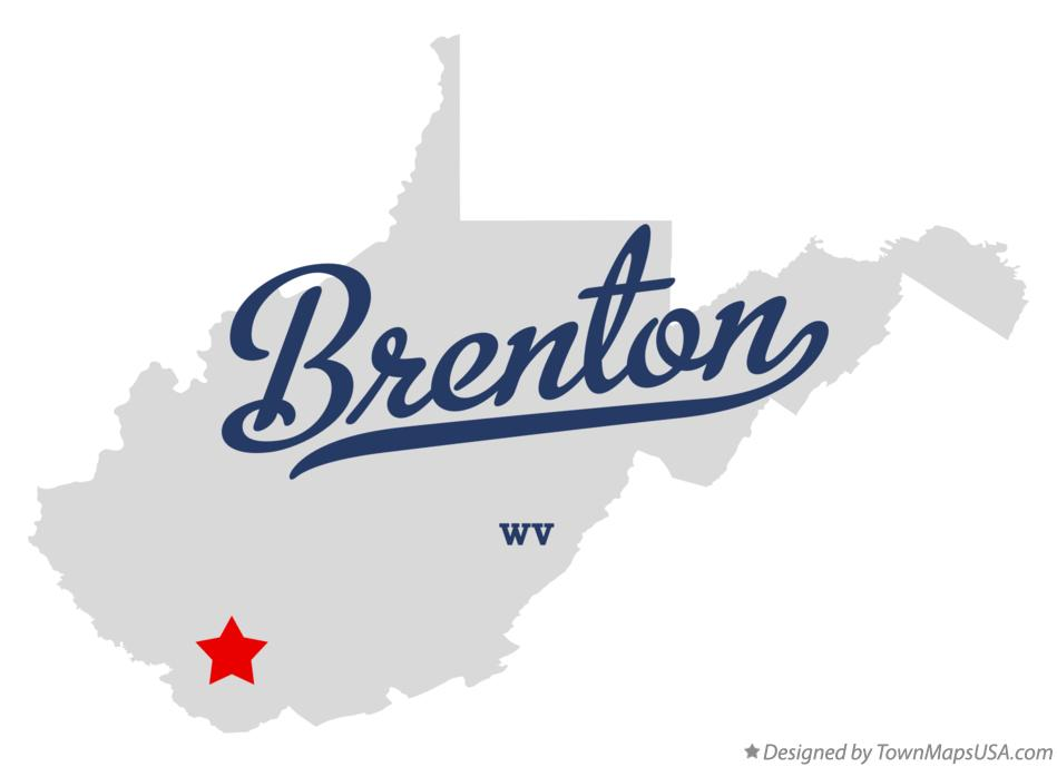 Map of Brenton West Virginia WV