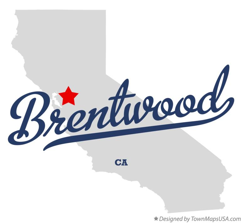 Map Of Brentwood Contra Costa County Ca California