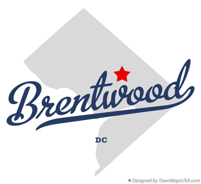 Map of Brentwood District Of Columbia DC