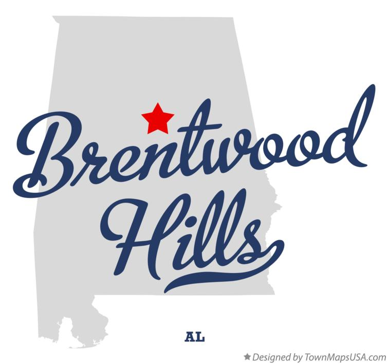 Map of Brentwood Hills Alabama AL