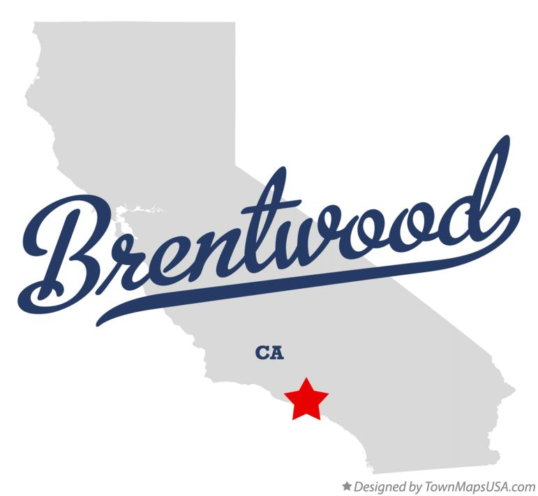 Map of Brentwood California CA