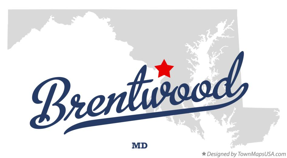 Map of Brentwood Maryland MD