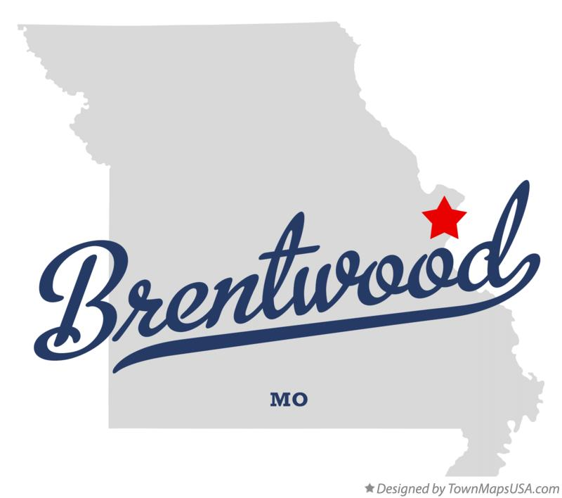 Map of Brentwood Missouri MO