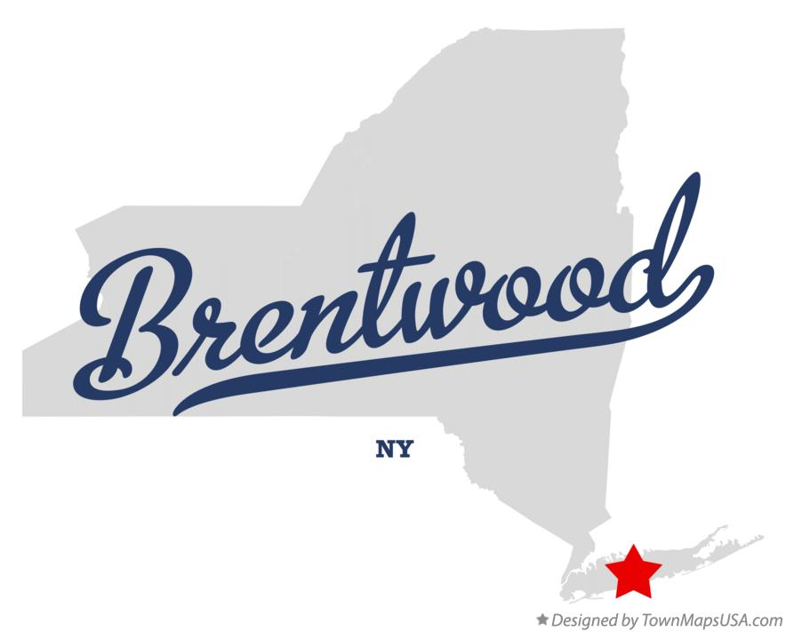 Map of Brentwood New York NY