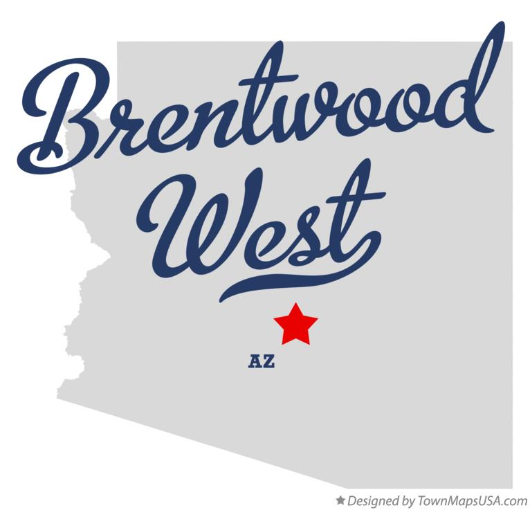 Map of Brentwood West Arizona AZ