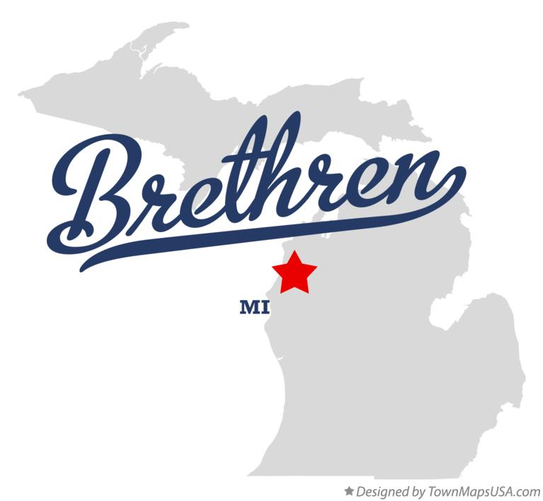 Map of Brethren Michigan MI