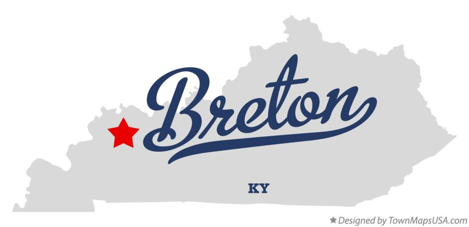 Map of Breton Kentucky KY
