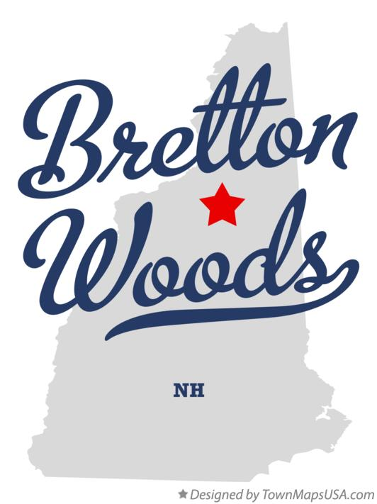 Map of Bretton Woods New Hampshire NH
