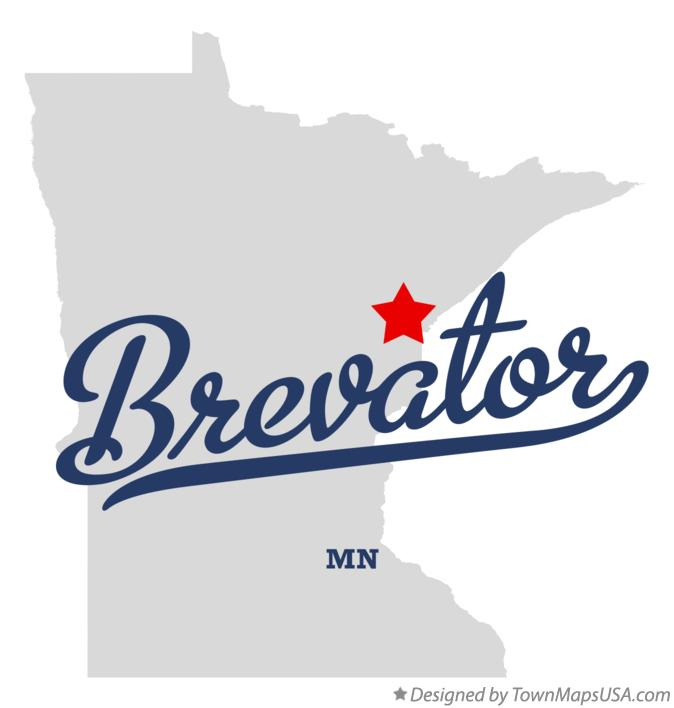 Map of Brevator Minnesota MN