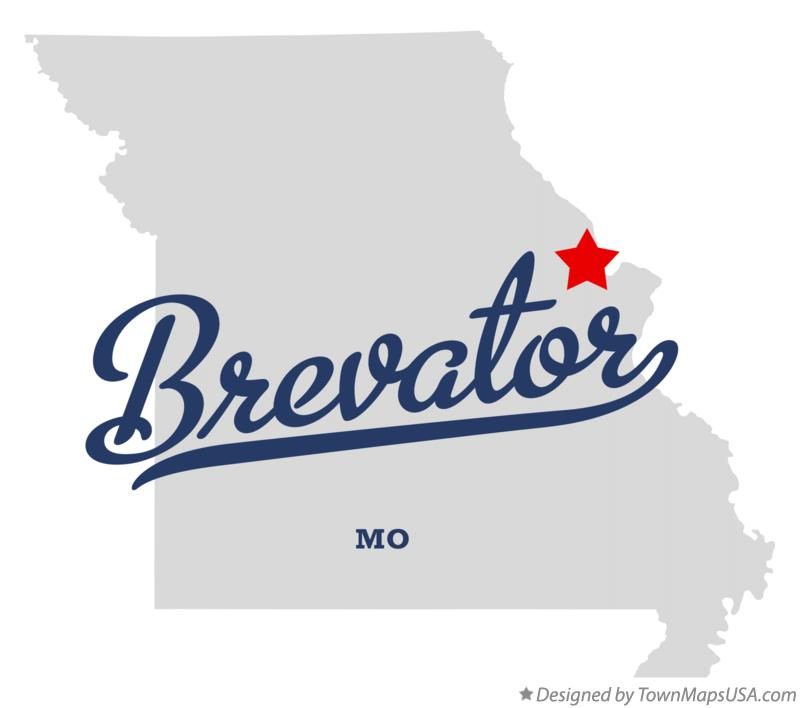 Map of Brevator Missouri MO