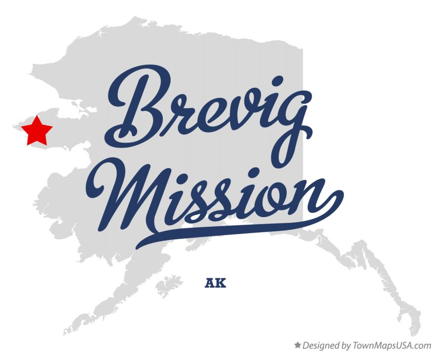 Map of Brevig Mission Alaska AK