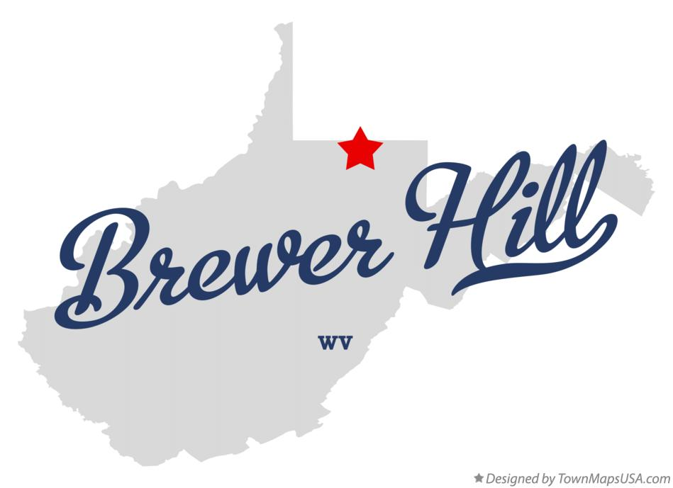 Map of Brewer Hill West Virginia WV