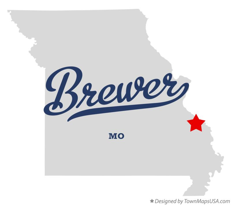 Map of Brewer Missouri MO