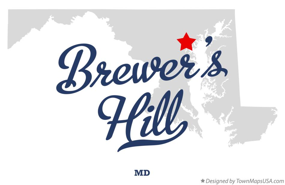 Map of Brewer's Hill Maryland MD
