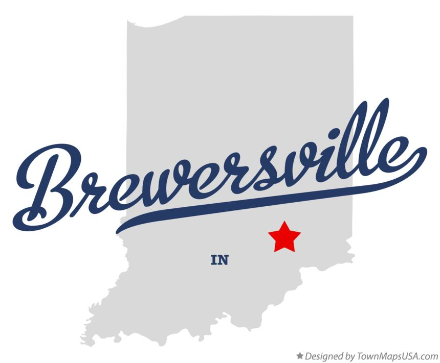 Map of Brewersville Indiana IN