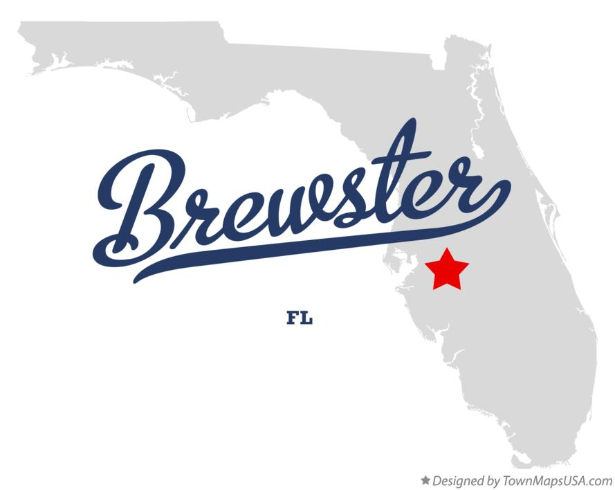 Map of Brewster Florida FL