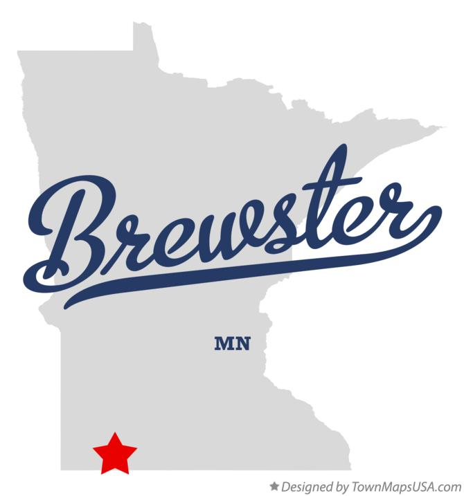 Map of Brewster Minnesota MN