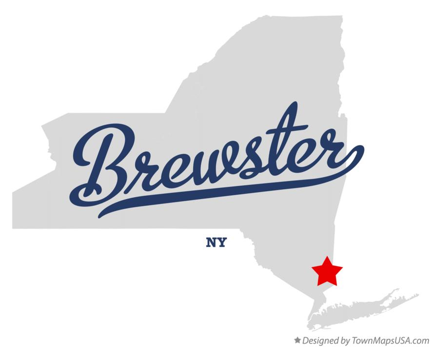 Map of Brewster New York NY