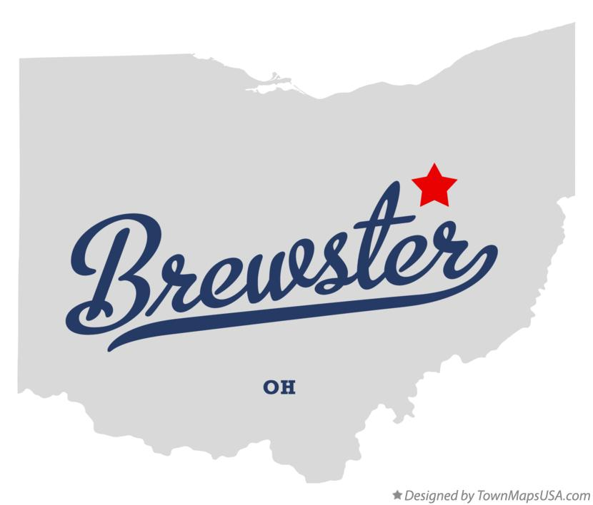 Map of Brewster Ohio OH