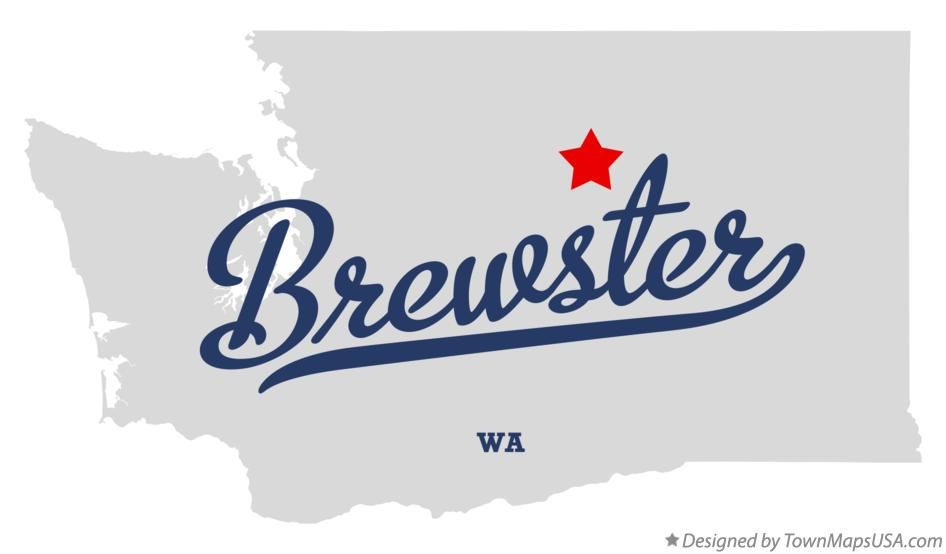 Map of Brewster Washington WA