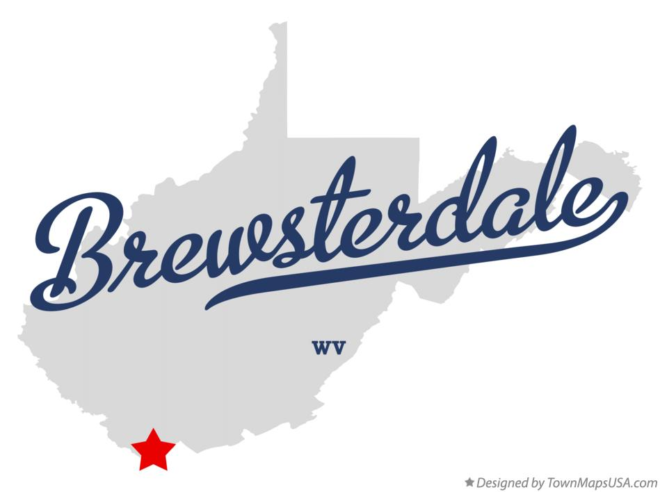Map of Brewsterdale West Virginia WV
