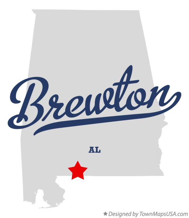 Map of Brewton Alabama AL
