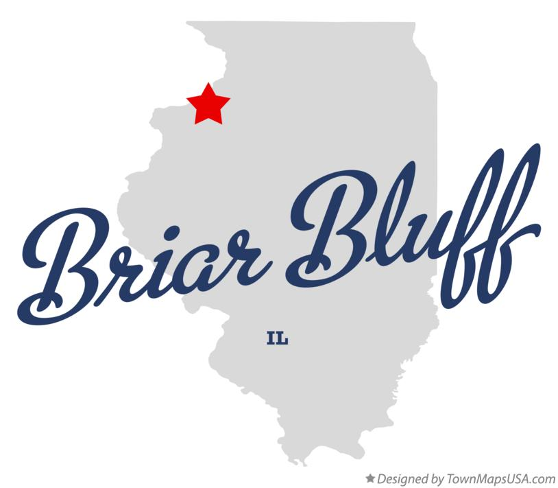 Map of Briar Bluff Illinois IL
