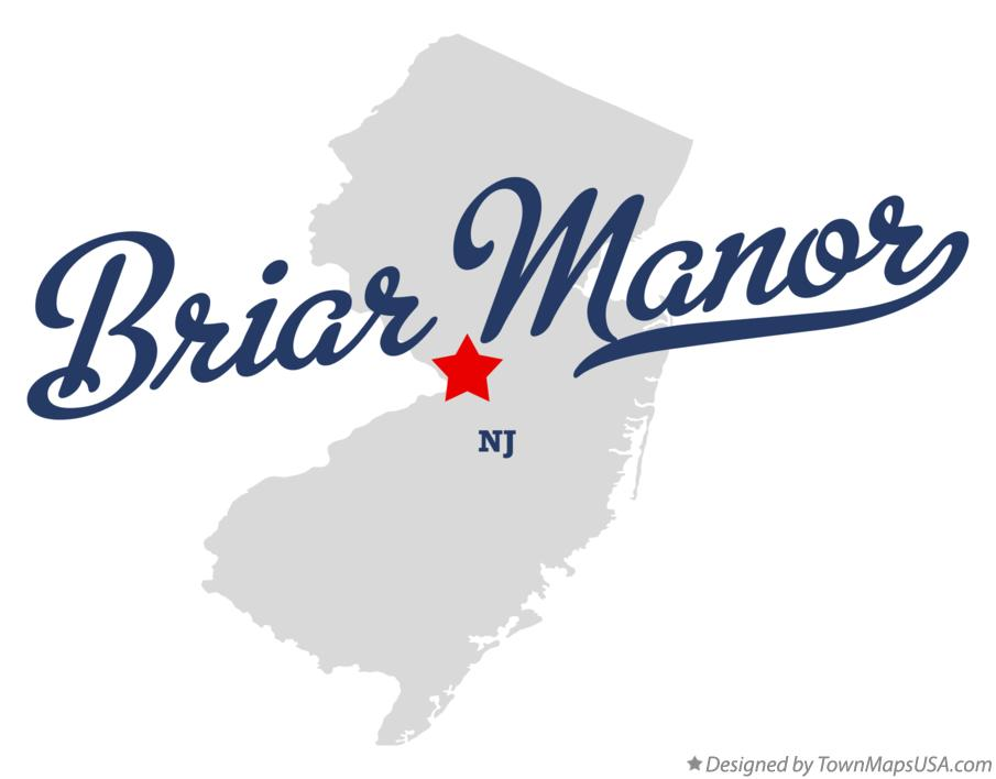 Map of Briar Manor New Jersey NJ