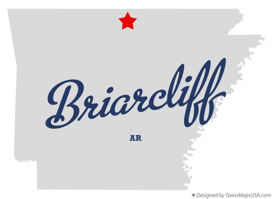Map of Briarcliff Arkansas AR