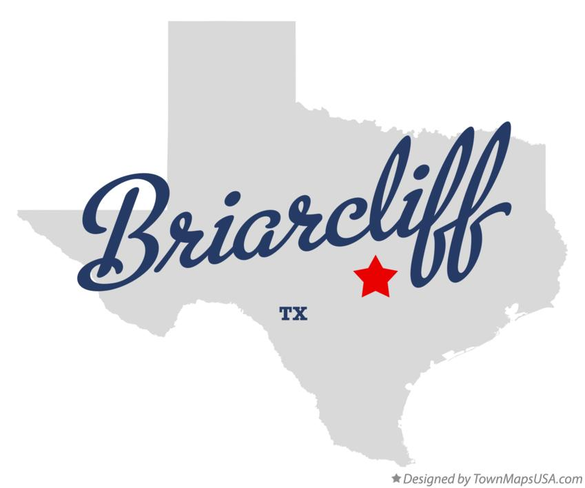 Map of Briarcliff Texas TX